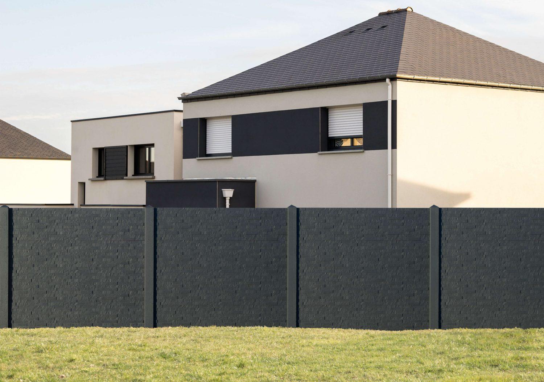 Plaque Beton Cloture Leroy Merlin plaques de soubassement en béton - lemaire tricotel