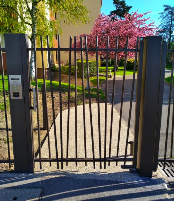 pose portail résidence